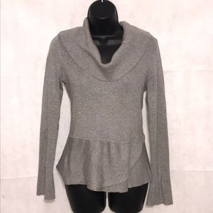 White House Black Market Gray Sweater Size S